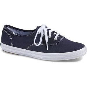 Classic Canvas Champion Keds Navy Blue Lace Up